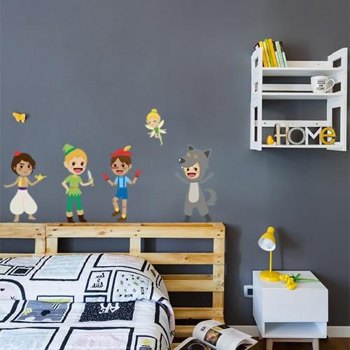 Sticker adhésif Princes des contes déco pour chambre d'enfant