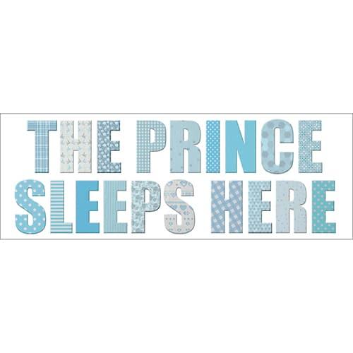 Stickers planches The prince sleeps bleu et gris déco