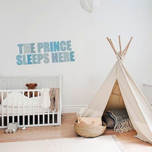 Sticker autocollant chambre d'enfant The Prince sleeps