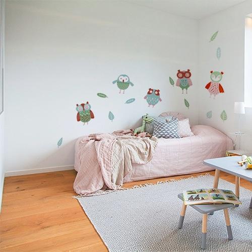 Sticker adhésif Hibou dans uen chambre d'enfant