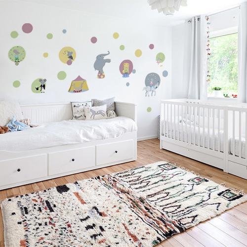 Sticker autocollant Cirque déco pour mur de chambre de bébé