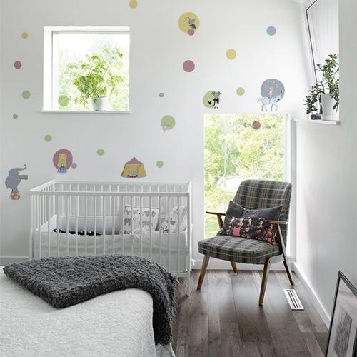 Sticker mural Cirque pour déco de chambre de bébé