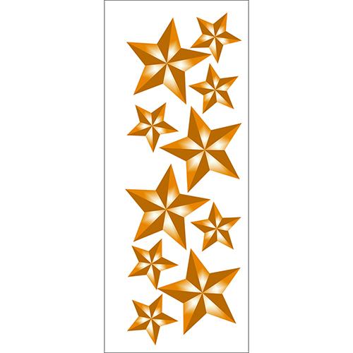 Sticker déco planche Etoiles dorées