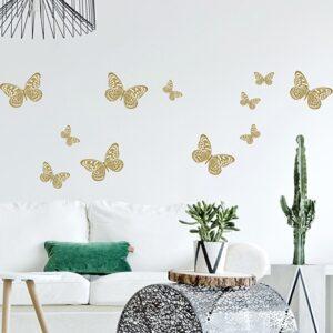 Stickers planche Papillons au dessus d'un canapé