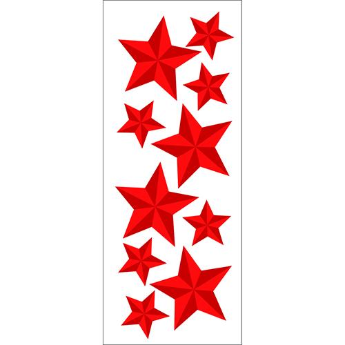 Sticker adhésif Etoiles rouges déco pour pièces de la maison
