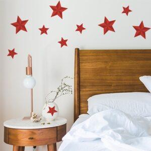 Sticker autocollant Etoiles rouges déco dans une chambre d'adultes