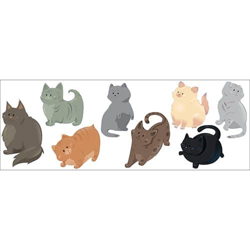 Sticker adhésif Chats décoration pour chambre