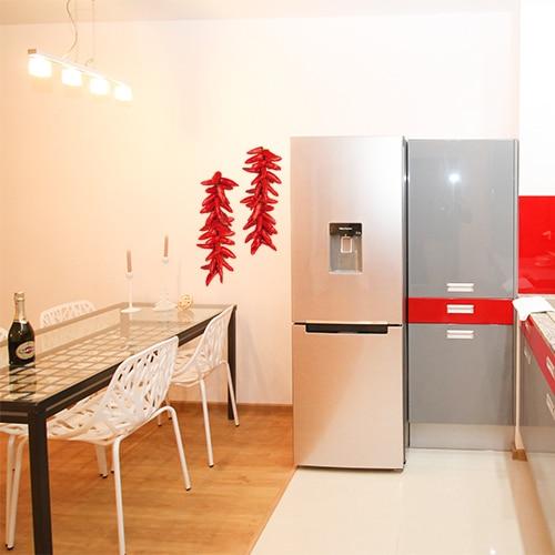 Sticker adhésif Piments rouges dans une cuisine déco