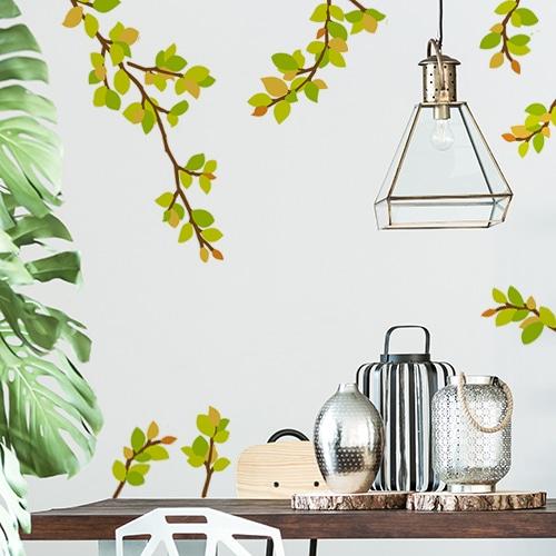 Sticker branchages décoration pour salon