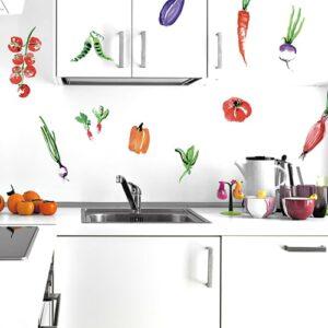 Sticker autocollant légumes du maraichais dans une cuisine