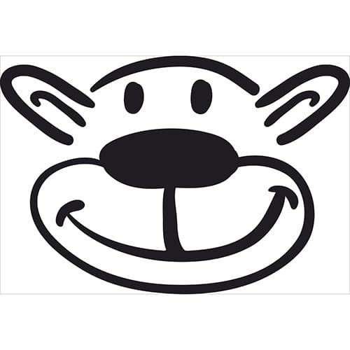 Sticker tête d'ours pour déco murale noir et blanc