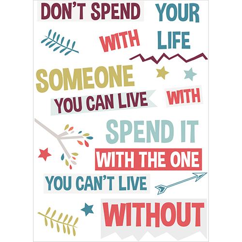 Sticker autocollant citation Don't Spend pour murs