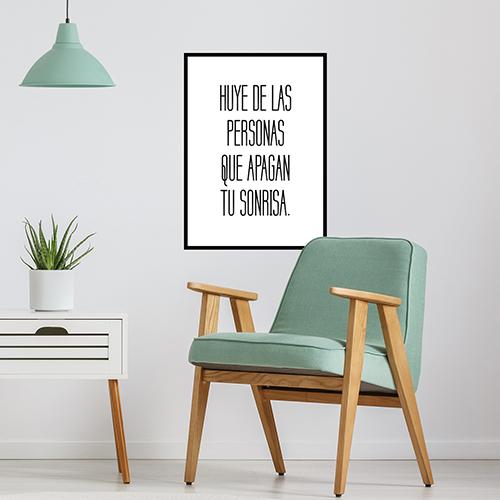 Sticker déco Huye de Las Personas au mur d'un salon