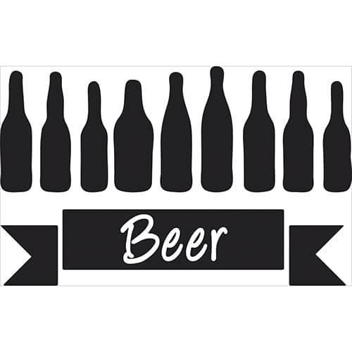 Sticker adhésif Beer déco pour intérieur