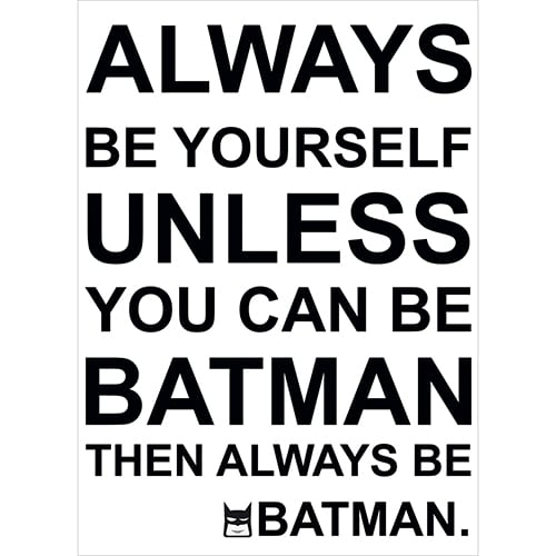 Sticker adhésif Batman noir et blanc