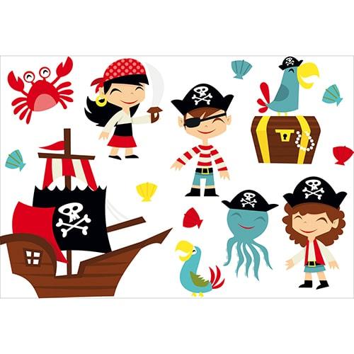 Sticker déco murale Pirates pour intérieur