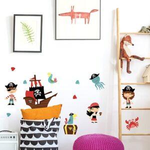 Stickers adhésifs Pirates sur un mur