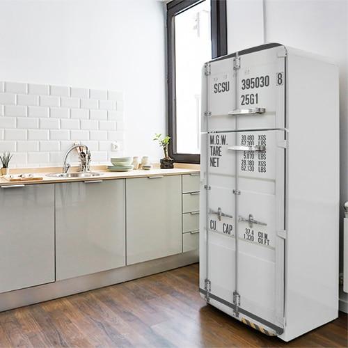 Sticker adhésif Container pour électroménager déco pour cuisine moderne