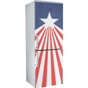 Stickers autocollants Stars and Banners déco sur un frigo pour apporter une touche originale aux couleurs de l'amérique