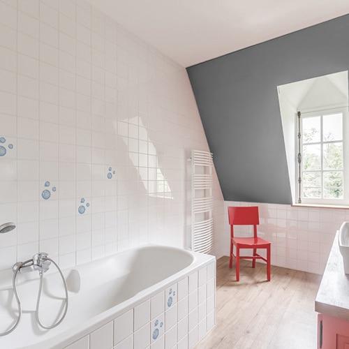 Stickers trois bulles de savon carrelage salle de bain
