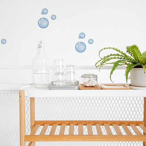 Stickers bulles de savon décoration d'intérieur salle de bain