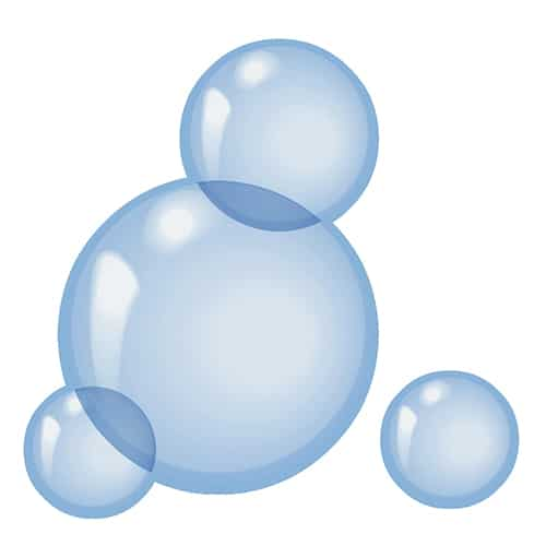 Stickers bulles de savon adhésifs pour carrelage de salle de bain