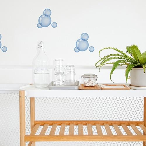 Décoration salle de bain stickers bulles de savon
