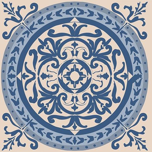 Sticker ciment bleu style mosaïque pour carrelage