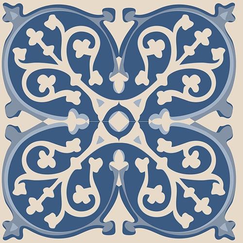 Sticker ciment bleu pour déco de carrelage