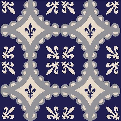 Sticker ciment marine pour décoration de carrelage