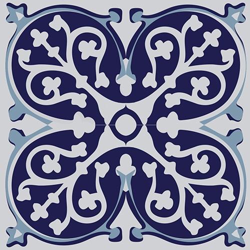 Sticker adhésif ciment gris bleu pour décoration carrelage
