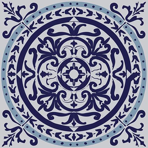 Sticker adhésif décoration ciment gris bleu pour carrelage