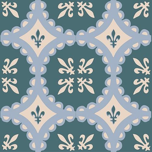 Sticker adhésif ciment vert pour décoration de carrelage