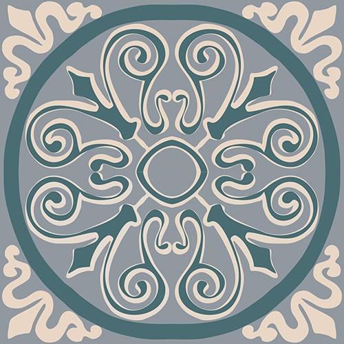 Stickers adhésifs ciment vert pour décoration de carrelage