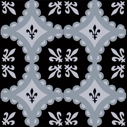 Sticker autocollant de décoration ciment bleu charbon pour carrelage