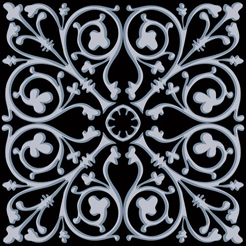 Sticker adhésif pour déco carrelage ciment bleu charbon noir