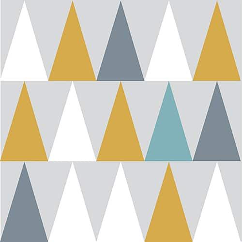 Sticker autocollant scandinave lichen triangles de couleurs pour décoration de carrelage