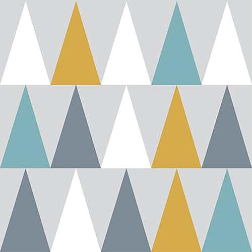 Sticker autocollant scandinave lichen déco triangles de couleurs pour carrelage