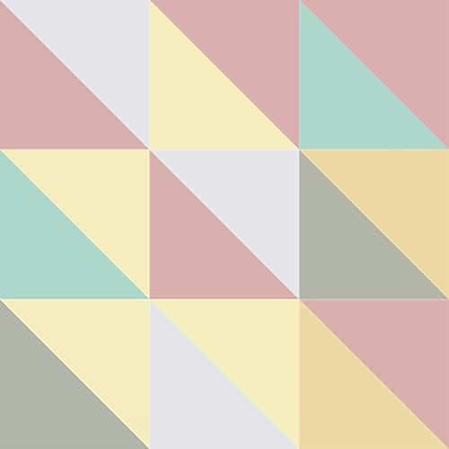 Stickers adhésif effet pastel scandinave pour décoration carrelage