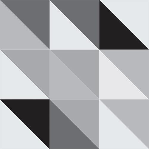 Stickers adhésif déco scandinave noir et blanc pour carrelage