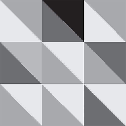 Stickers autocollant effet scandinave noir et blanc pour décoration carrelage