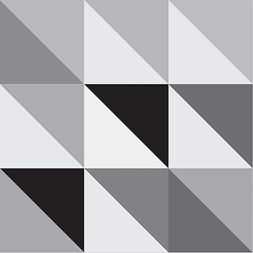 Stickers autocollant décoration pour carrelage scandinave noir et blanc