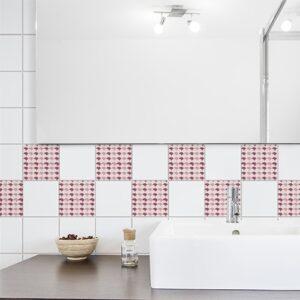 Stickers autocollant déco carrelage effet Parapluies pour salle de bain
