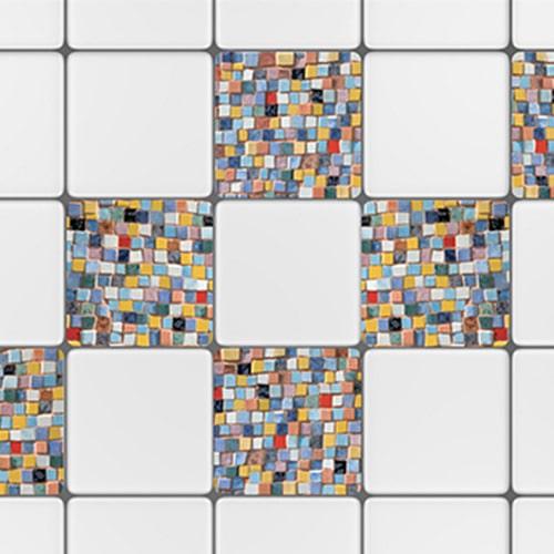 Autocollant déco Mosaique pour carrelage d'intérieur de cuisine