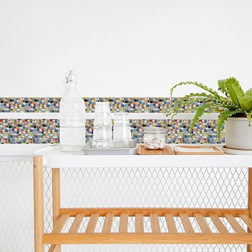 Stickers adhésif pour déco Mosaique pour carrelage de salle à manger