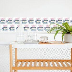 Adhésif déco Mosaique pour carrelage blanc de salle à manger