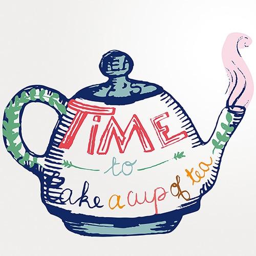 Stickers autocollant Tea Time décoration pour carrelage d'intérieur