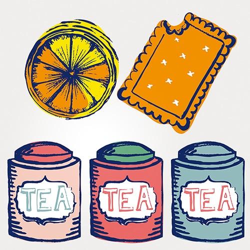 Stickers adhésif effet Tea Time décoration de carrelage