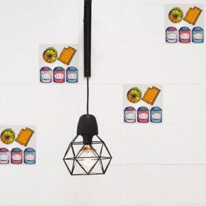 Adhésif effet Tea Time décoration de carrelage blanc pour cuisine