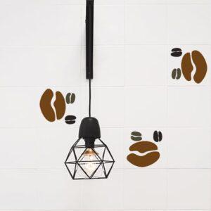 Autocollant Coffee Time décoration pour carrelage blanc de cuisine